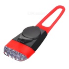 Bike Bicycle 4-LED Silicone Neutral White Light Headlamp - Black + Red
