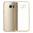 Electroplating PC Case for Samsung Galaxy S7 Edge - Gold + Translucent