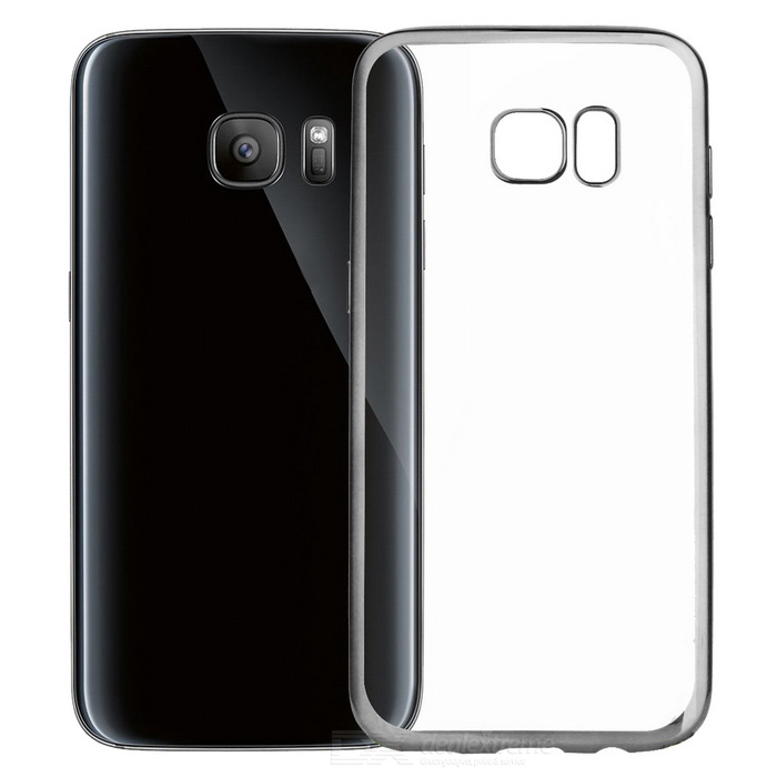 Electroplating PC Case for Samsung Galaxy S7 Edge - Silver+TranslucentPlastic Cases<br>Form ColorSilver + TransparentModel-MaterialPCQuantity1 DX.PCM.Model.AttributeModel.UnitShade Of ColorSilverCompatible ModelsSamsung Galaxy S7 EdgePacking List1 * Case<br>