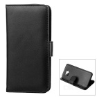 Protective PU Flip-Open Case for Samsung Galaxy S7 Edge - Black
