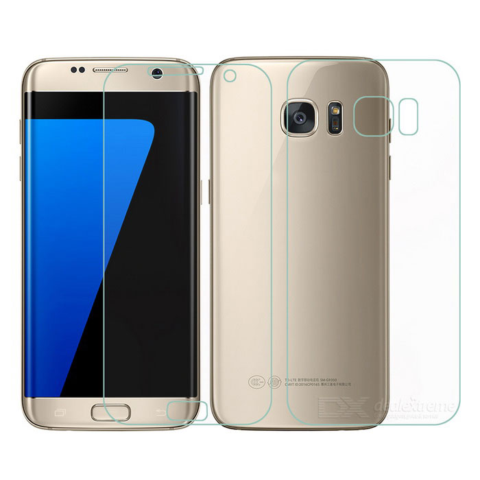 Protective Front + Back Screen Protectors for Samsung Galaxy S7 EDGE