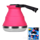 1.7L Portable Fold-up Stainless Steel + Silicone Kettle - Deep Pink