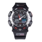 Pasnew PLG-1002A Silicone Sports Quartz Wristwatch - Red + Black