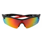 9356 Unisex Outdoor Sports Red REVO Polarized Sunglasses - Black