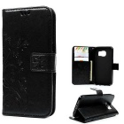TPU + PU Leather Wallet Case for Samsung Galaxy S7 - Black
