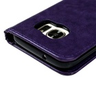 TPU + PU Leather Wallet Case for Samsung Galaxy S7 - Purple