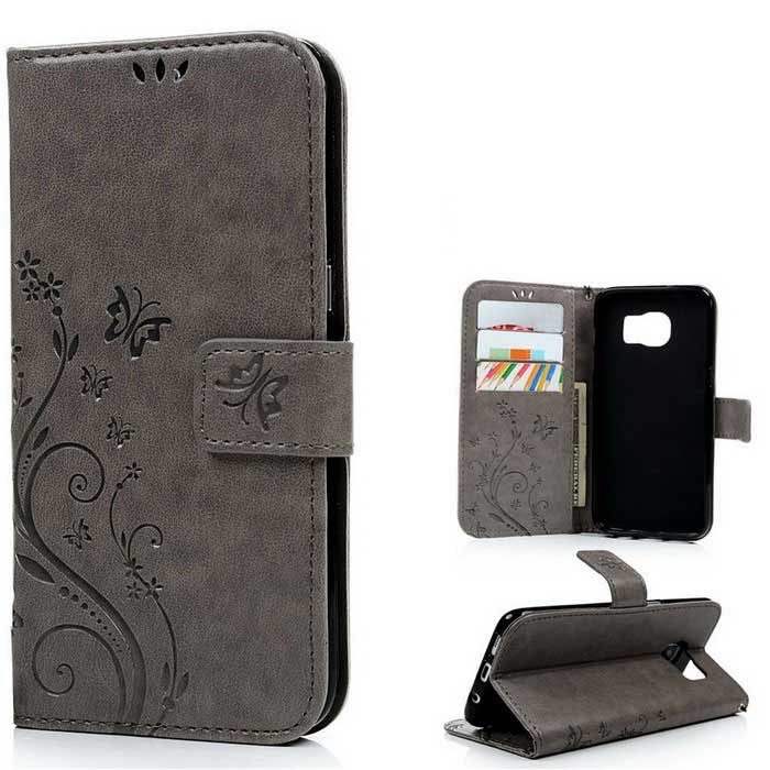 TPU + PU Leather Wallet Case for Samsung Galaxy S7 Edge - GreyLeather Cases<br>Form  ColorGreyModelN/AMaterialPU+TPUQuantity1 DX.PCM.Model.AttributeModel.UnitShade Of ColorGrayCompatible ModelsSamsung Galaxy S7 EdgePacking List1 * Case1 * Strap<br>