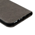 TPU + PU Leather Wallet Case for Samsung Galaxy S7 Edge - Grey