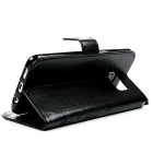 TPU + PU Leather Wallet Case for Samsung Galaxy S7 Edge - Black