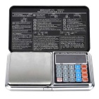 0.1*500g Multi-function Pocket Scale with Backlit LCD Display - Black