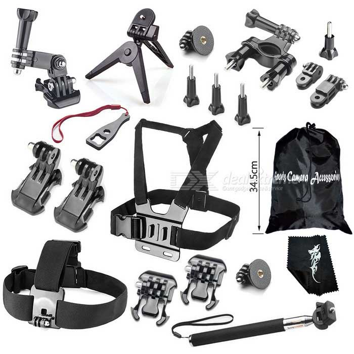 Outdoor Sports Camera Accessories Kit for GoPro Hero - Black