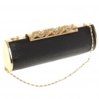 Luxurious Evening Bag Handbag with Shoulder Chain (Black + Gold)