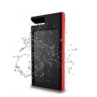 "SUNGZU ""12000mAh"" Dual USB Solar Power Bank w/ Compass - Black + Red"