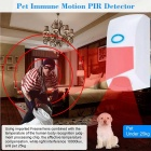 Wireless Pet Immune Motion PIR Sensor Infrared Detector Alarm System