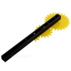 Gears Trial Educational Toy Fun Gearset - Black + Yellow
