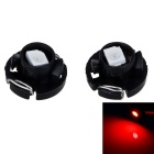T4 0.3W 12V 6lm 1210-SMD LED rotes Licht Instrument-Lampe (2 PCS)