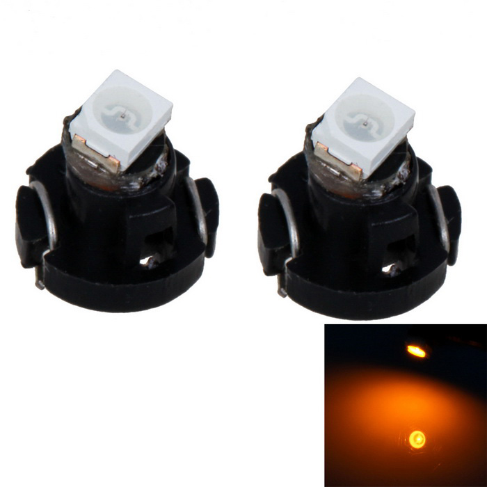 T4  0.3W 12V 6lm 1210-SMD LED Yellow Light Instrument Lamp (2 PCS)