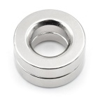 25mm * 6mm Super Strong Mobile Phone Magnet Holder - Silver (2PCS)