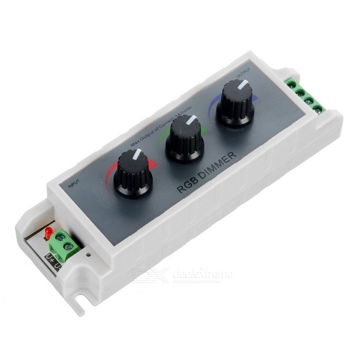 3-Channel LED RGB Strip Dimmer Controller - Grey + Yellow