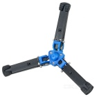 Portable Foldable Universal Camera Tripod - Black + Blue