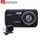 "Junsun H6 4.3"" Full HD 1080P Car DVR Camcorder w/ Dual Cameras - Black"