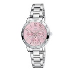 SKONE Ladies Star Decorative Quartz Watch w/ Real 3 Sub-dials - Pink