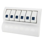 IZTOSS S8200W-BL-6 6 Grupo Painel Switch para Boat - White + Light Blue