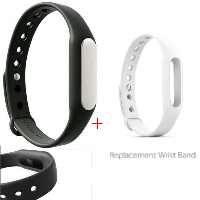 Xiaomi Mi Band 1S Smart Bracelet + Replacement Wristband - Black+White
