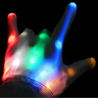LED luminosi Full-Finger Gloves per Party - bianco (2 * CR2032)