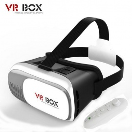 """VR BOX 2.0 VR 3D Glasses + Bluetooth Controller for 3.5~6.0"""" Phone"""