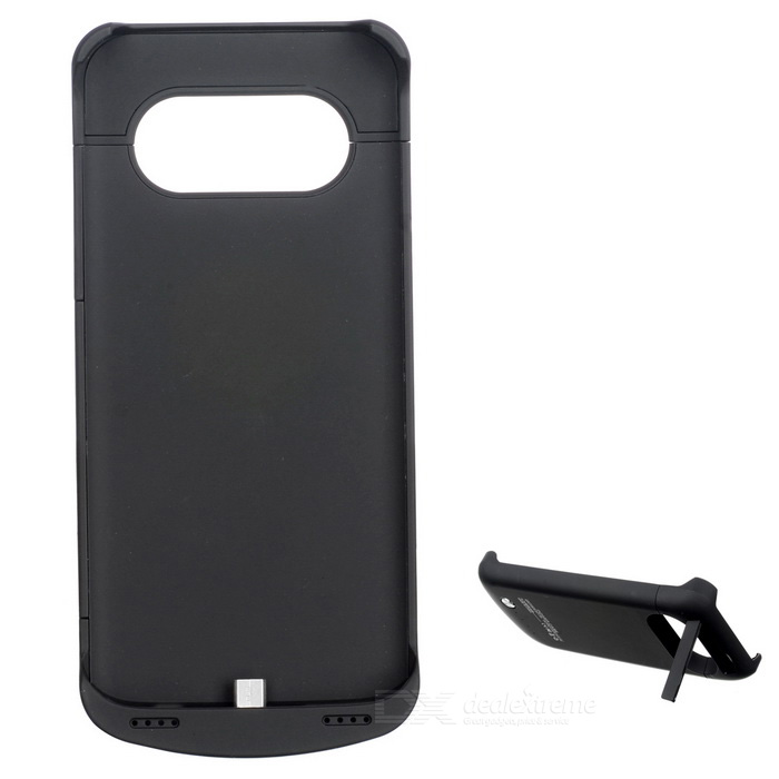 4200mAh Li-Polymer Battery Back Case w/ Stand for Samsung S7 - Black