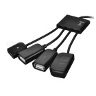 2 * USB 2.0 + Micro SD / TF OTG USB + HUB - Black