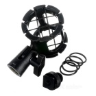 Handheld Microphone Shock Suspension Mount  + Hot Shoe Adapter - Black
