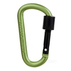 Multifunctional Aluminium Alloy Carabiner with Lock - Turquoise+ Black