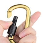Multi-functional Aluminium Alloy Carabiner with Lock - Gold + Black