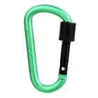 Multifunctional Aluminium Alloy Carabiner with Lock - Green + Black