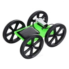 Star No. 1 DIY Hand-Assembled Solar Toy Model Car - Green + Black