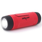 ZEALOT S1 Outdoor Waterproof Bluetooth 4.0 Speaker - Vermelho + Preto