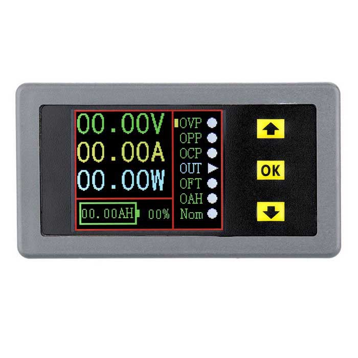 "2.8"" LCD Wireless Digital Voltage Current Power Meter - Black + Grey"