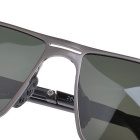 SENLAN 2801P2 Polarized Sunglasses - Gun Color + Blackish Green