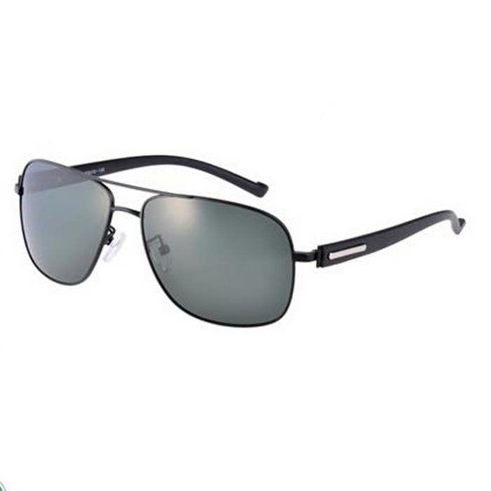 SENLAN 2824P1 Polarized Sunglasses - Black + Blackish Green