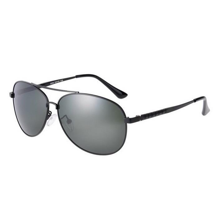 SENLAN 2826P1 Men's Polarized  Sunglasses - Black + Grey