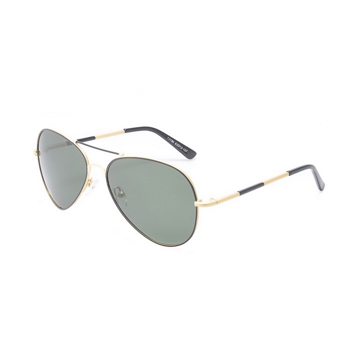 SENLAN 5045P2 Polarized Sunglasses - Gold + Blackish Green