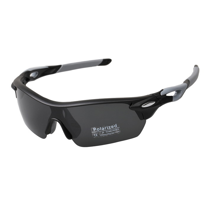 XQ137 TR90 Frame Polaroid Polarized Sunglasses - Black + Grey