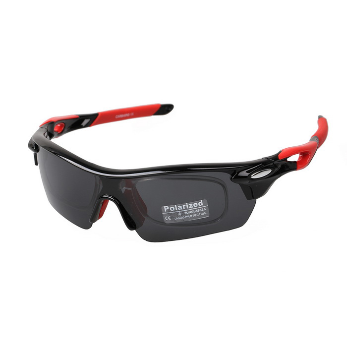XQ182 Men's TR90 Frame Polaroid Polarized Sunglasses - Black + Red