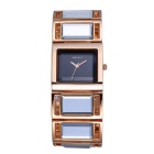 WEIQIN Square Mosaic Mirror Glass Business Quartz Watch - Gold + Black