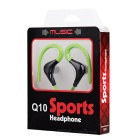 Wireless Bluetooth V4.0+EDR Stereo Sports Earphones with Mic - Green