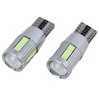 T10 8W 27 * LED 270lm Ice Light Blue Largura Lâmpadas (2PCS / 12 ~ 18V)