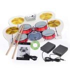 Portable Electronic Drums - White + Red