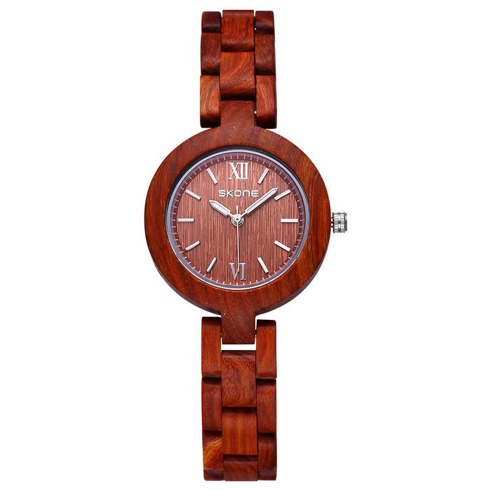 SKONE Womens High-end Circular Dial Quartz Watch - Red SandalwoodQuartz Watches<br>Form  Color red sandalwood 390401Model390401Quantity1 DX.PCM.Model.AttributeModel.UnitShade Of ColorRedCasing MaterialEbony / mapleWristband MaterialEbony / mapleSuitable forAdultsGenderWomenStyleWrist WatchTypeFashion watchesDisplayAnalogMovementQuartzDisplay Format12 hour formatWater ResistantNODial Diameter3.23 DX.PCM.Model.AttributeModel.UnitDial Thickness1.07 DX.PCM.Model.AttributeModel.UnitWristband Length24 DX.PCM.Model.AttributeModel.UnitBand Width1.28 DX.PCM.Model.AttributeModel.UnitBattery1*S377Packing List1*Watch<br>